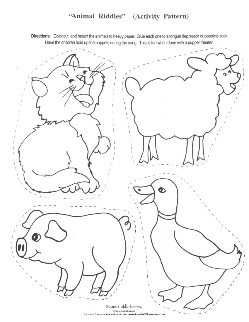 Free Coloring Pages Of Farm Cut Outs
