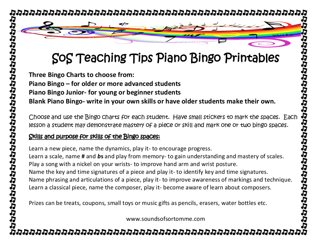 SOS Teaching Tips Bingo
